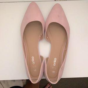 Peal pink Anko flats